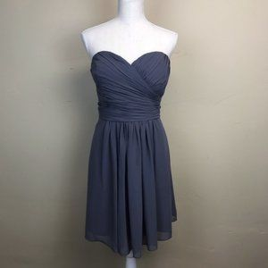 Bill Levkoff Slate Gray Cocktail Dress